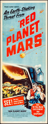 """Red Planet Mars (United Artists, 1952). Folded, Very Fine-. Insert (14"""" X 36""""). Science Fiction"""