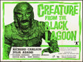 """Movie Posters:Horror, Creature from the Black Lagoon (Universal International, R-1960s). Folded, Fine/Very Fine. British Quad (30"""" X 40""""). Horror...."""