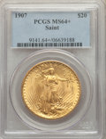 Saint-Gaudens Double Eagles, 1907 $20 MS64+ PCGS....