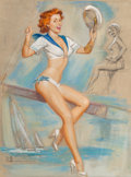 Fine Art - Work on Paper, K.O. (Knute) Munson (American, 20th Century). First Mate. Pastel on paper. 30-1/2 x 23 inches (77.5 x 58.4 cm). Signed l...