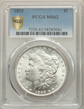 1893 $1 MS62 PCGS Secure. PCGS Population: (876/2983 and 2/133+). NGC Census: (516/1454 and 3/41+). CDN: $1,000 Whsle. B...