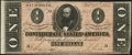 Confederate Notes:1864 Issues, T71 $1 1864 PF-4 Cr. 577 Extremely Fine-About Uncirculated.. ...