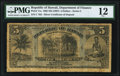 World Currency, Hawaii Republic of Hawaii 5 Dollars 1895 (ND. 1897) Pick 11a PMG Fine 12.. ...