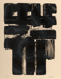 Pierre Soulages (b. 1919) Eau-forte no. 10 B, 1957 Etching on Arches paper 30 x 22-1/2 inches (76.2 x 57.2 cm) (sheet