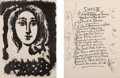 Prints:Contemporary, Pablo Picasso (1881-1973). Vingt Poems de Gongora, 1948. Complete set of 41 etchings with sugar lift aquatint on Marais ... (Total: 22 Items)