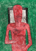 Prints & Multiples:Contemporary, Rufino Tamayo (1899-1991). Hombre Rojo, 1976. Mixografia in colors on Arches paper. 30-3/8 x 22-1/2 inches (77.2 x 57.2 ...