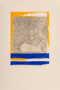 Robert Motherwell (1915-1991) Mediterranean (State II Yellow), 1975 Lithograph in colors on wove pap