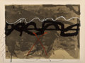 Fine Art - Work on Paper:Print, Antoni Tàpies (1923-2012). Untitled, from Nocturn Matinal (three works), 1970. Lithographs with hand coloring on Gua... (Total: 3 Items)