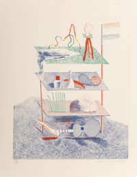 David Hockney (b. 1937) Serenade, from The Blue Guitar, 1976-77 Etching and aquatint in c
