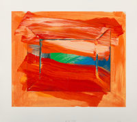 Howard Hodgkin (1932-2017) Sky's the Limit, 2003 Screenprint in colors on wove paper 25 x 30 inch