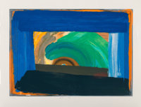 Howard Hodgkin (1932-2017) Gossip, 1995 Screenprint in colors on Somerset paper 29-1/8 x 40 inche