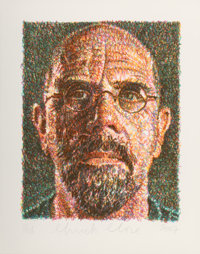 Chuck Close (b. 1940) Self Portrait, 2007 Lithograph and screenprint in colors on Somerset paper 30 x 24 inches (76.2