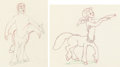 Animation Art:Production Drawing, Fantasia Animation Drawings Group of 2 (Walt Disney, 1940)....