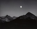 Photographs:Gelatin Silver, Ansel Adams (American, 1902-1984). Moonrise from Glacier Point, 1939. Gelatin silver, circa 1965. 7-3/8 x 9-1/2 inches (...