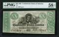 Confederate Notes:1861 Issues, T21 $20 1861 PF-6 Cr. 146 PMG Choice About Uncirculated 58 EPQ.. ...