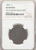 Large Cents, 1808 1C -- Environmental Damage, Scratched -- NGC Details. VG. NGC Census: (5/72). PCGS Population: (23/191). CDN: $175 Whs...