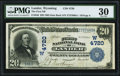 National Bank Notes:Wyoming, Lander, WY - $20 1902 Date Back Fr. 646 The First National Bank Ch. # (W)4720 PMG Very Fine 30.. ...