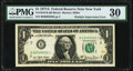 Error Notes:Doubled Face Printing, Fr. 1910-B $1 1977A Federal Reserve Note. PMG Very Fine 30...