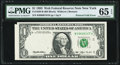 Fr. 1920-B $1 1993 Federal Reserve Web Note. PMG Gem Uncirculated 65 EPQ