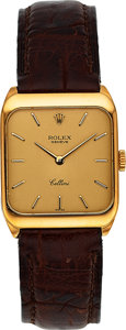 Timepieces:Wristwatch, Rolex 18k Gold Cellini, circa 1976. ...