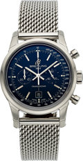 Timepieces:Wristwatch, Breitling, Transocean Chronograph 38, Ref. A41310, Steel Automatic, Full Set. ...