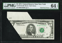 Fr. 1973-B $5 1974 Federal Reserve Note. PMG Choice Uncirculated 64 EPQ