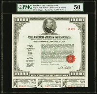 $10,000 United States Treasury Note Series A May 17, 1976 Due May 15, 1986 PMG About Uncirculated 50