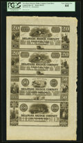 Lambertville, NJ- Delaware Bridge Company $20-$20-$50-$100 18__ X1 Wait 1061-1061-1065-1066 Remainders PCGS Very