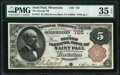 National Bank Notes:Minnesota, Saint Paul, MN - $5 1882 Brown Back Fr. 467 The Second National Bank Ch. # 725 PMG Choice Very Fine 35 EPQ.. ...