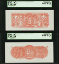 Complete Denomination Set of Confederate Chemicograph Fourth Printing Reverse 1 Backs $500; $100; $50; $20; $10; $5 circ...