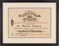 Football Collectibles:Others, 1915 Johnny Blood McNally Middle School Diploma - Rare Early Piece from Packers HOFer. ...