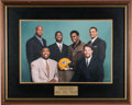 Football Collectibles:Photos, 1998 Green Bay Packers Oversized Playoff Captains Photograph Presented to Brett Favre. ...