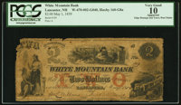 Lancaster, NH- White Mountain Bank $2 May 1, 1859 G8a PCGS Apparent Very Good 10