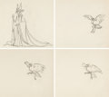 Animation Art:Production Drawing, Sleeping Beauty Maleficent and Diabl...