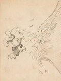 Animation Art:Production Drawing, Trader Mickey Layout Drawing (Walt D...