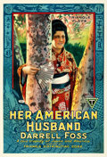 """Movie Posters:Drama, Her American Husband (Triangle, 1918). Fine+ on Linen. One Sheet (27.75"""" X 41"""").. ..."""