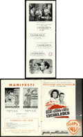 "Movie Posters:Academy Award Winners, Casablanca (Warner Bros., 1946/R-1953). Very Fine-. Italian First Post War Release Pressbook (12 Pages, 5"" X 8"") & Italian P... (Total: 2 Items)"