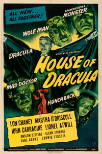 """House of Dracula (Universal, 1945). Fine/Very Fine on Linen. One Sheet (27.25"""" X 41"""")"""
