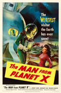"Movie Posters:Science Fiction, The Man from Planet X (United Artists, 1951). Fine/Very Fine on Linen. One Sheet (27"" X 41.25"").. ..."
