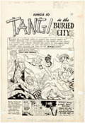 """Original Comic Art:Complete Story, Jungle Jo #4 and Terrors of the Jungle #21 Complete 9-Page Story """"Tangi in the Bur... (Total: 9 Original Art)"""