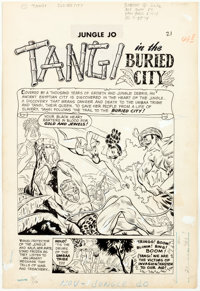 "Jungle Jo #4 and Terrors of the Jungle #21 Complete 9-Page Story ""Tangi in the Bur... (Total: 9 Original Art)"