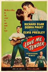 "Love Me Tender (20th Century Fox, 1956). Fine+ on Paper. Poster (40"" X 60"") Style Y"