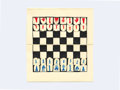 Fine Art - Sculpture, American, Eduardo Sarabia. Good Moves, 2019. Pocket chess set (book format). 4-3/8 x 7-7/8 inches (11.0 x 20.0 cm). Ed. 1 of 10. ...