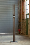 Sculpture, Eli Ping. Utitled, 2019. Steel and aluminum . 98 x 6 x 3-1/2 inches (248.9 x 15.2 x 8.9 cm). Courtesy of the artist an...