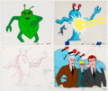 Animation Art:Production Cel, The Superman/Aquaman Hour of Adventure The Atom Production Cels and Drawings Group (Filmation, 1967).... (Total: 7 Items)