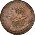 """Spanish Netherlands: Philip IV bronze """"Bay of All Saints Victory"""" Medal 1631 XF45 Brown NGC"""