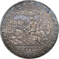 """Netherlands: Dutch Republic silver """"Reopening Maritime Commerce"""" Medal 1594 AU50 NGC"""