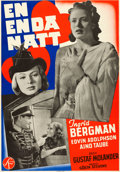 """Movie Posters:Foreign, Only One Night (Svensk Filmindustri, 1939). Very Fine- on Linen. Swedish One Sheet (27.25"""" X 39"""").. ..."""