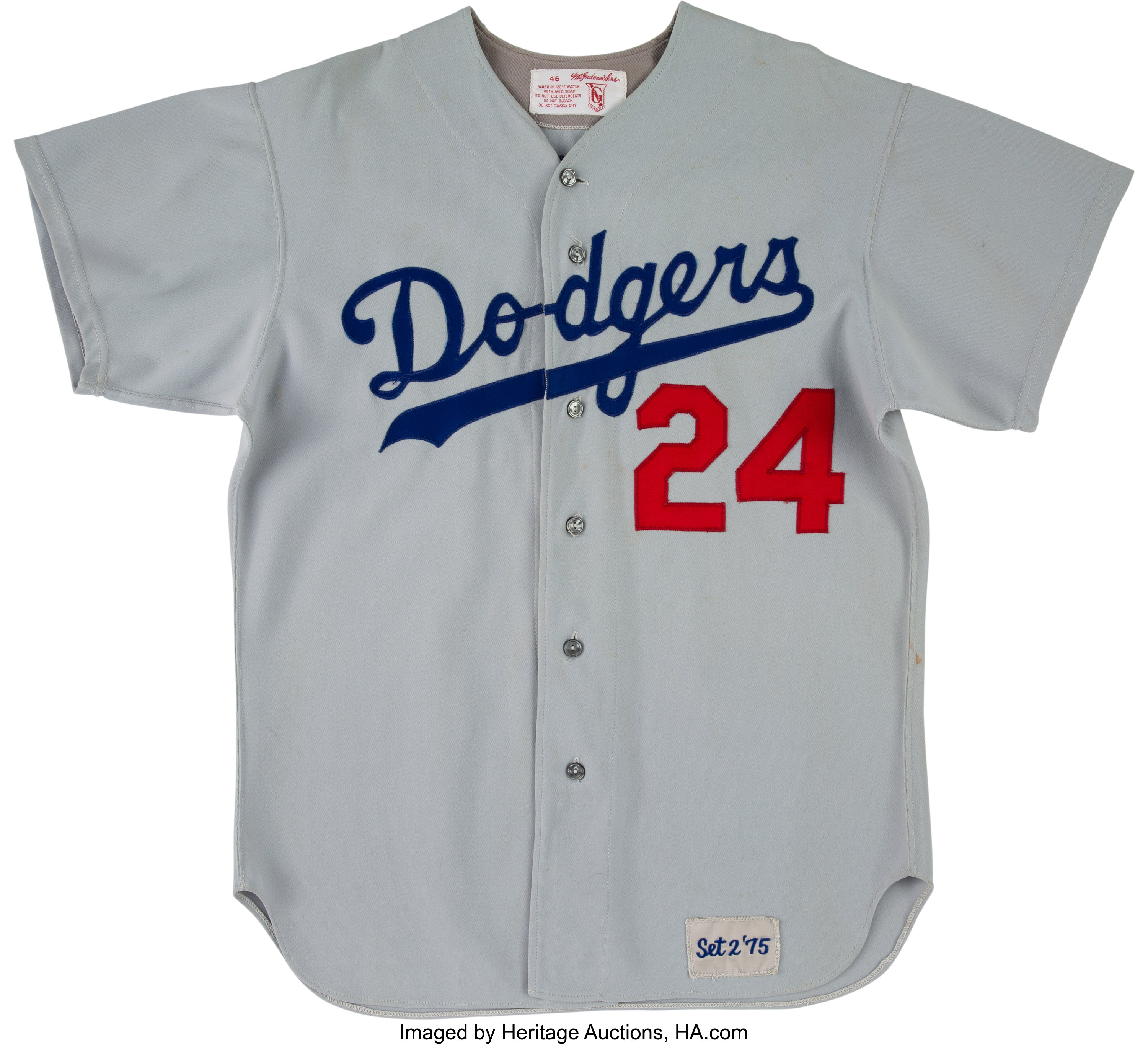 on sale ab91d 1d12d 1975 Walter Alston Game Worn Los Angeles Dodgers Jersey.... | Lot #53458 |  Heritage Auctions