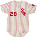 Baseball Collectibles:Uniforms, 1973 Wilbur Wood Game Worn Chicago White Sox Jersey....